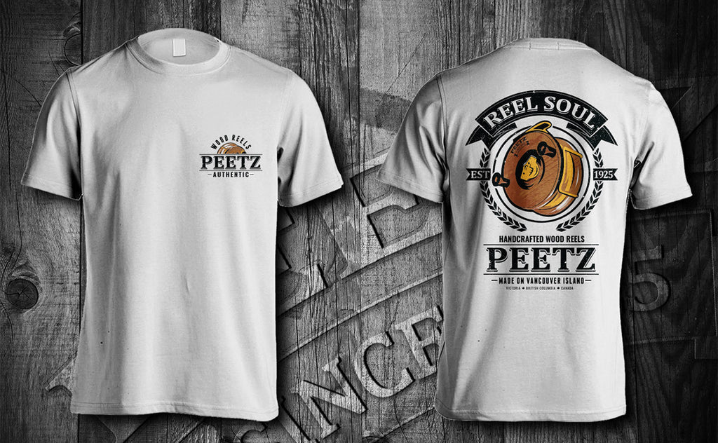 Reel Soul T-Shirt - White SS | PEETZ Outdoors Limited