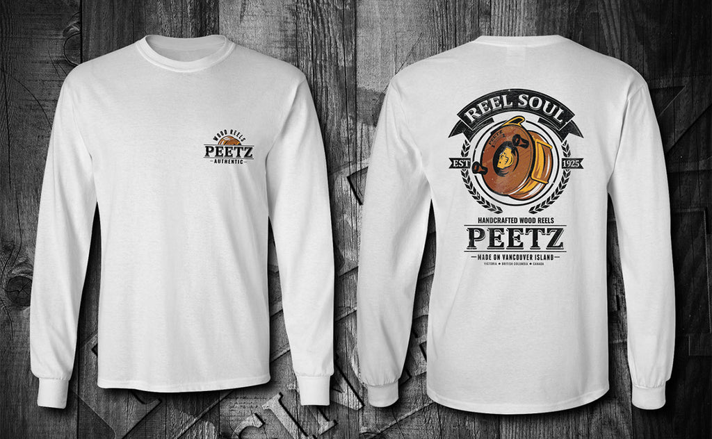 Reel Soul T-Shirt - White LS | PEETZ Outdoors Limited