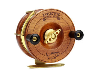 "4"" PEETZ Evolution fishing reels feature our unique one-way drag mechanism - no more ""knuckle buster"" effect!"