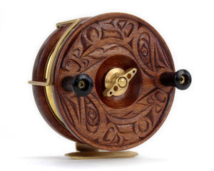 """Circle of Life"" Limited Edition Fishing Reel Hand Carved by Jason Henry Hunt"