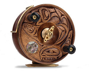 Orca, Salmon & Moon | PEETZ Artist Series Fishing Reel