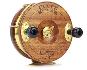 "6"" PEETZ Evolution fishing reels feature our unique one-way drag mechanism - no more ""knuckle buster"" effect!"