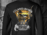 Island Born T-Shirt - Black SS | PEETZ Outdoors Limited