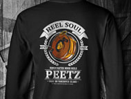Reel Soul T-Shirt - Black SS | PEETZ Outdoors Limited