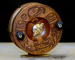 "Artist Series ""Salmon Catch"" Reel (5 Inch Engraved)"