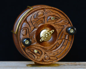 """The Hunter"" - 2017 PEETZ Limited Edition Hand Carved Fishing Reel"