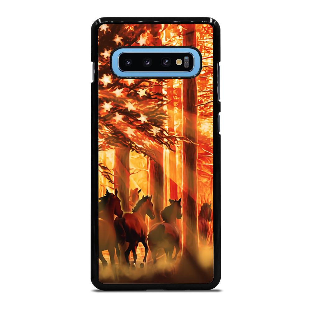 AMERICAN FLAG HORSE 3 Samsung Galaxy S10 Plus case