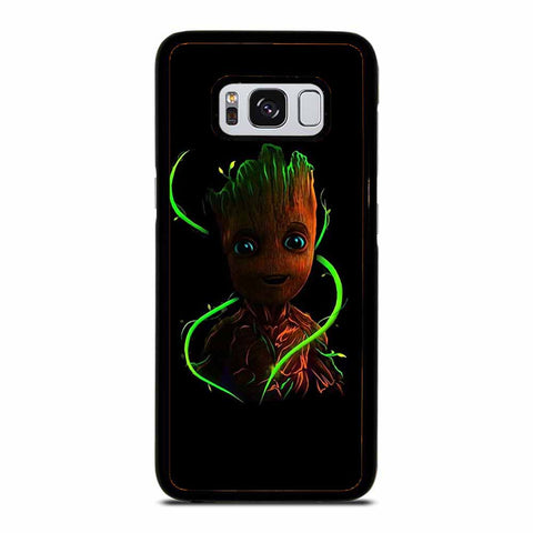 BABY GROOT BLACK Samsung Galaxy S8 case