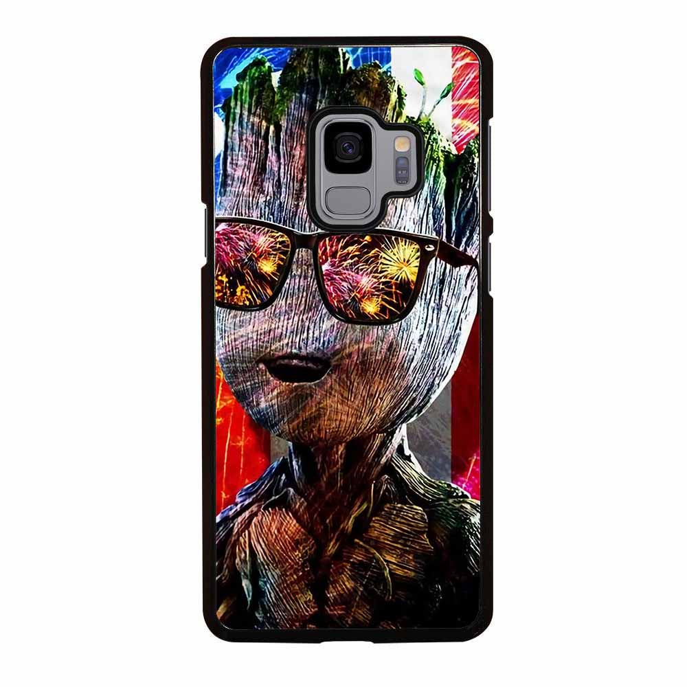 BABY GROOT AMERICAN FLAG Samsung Galaxy S9 Plus Case