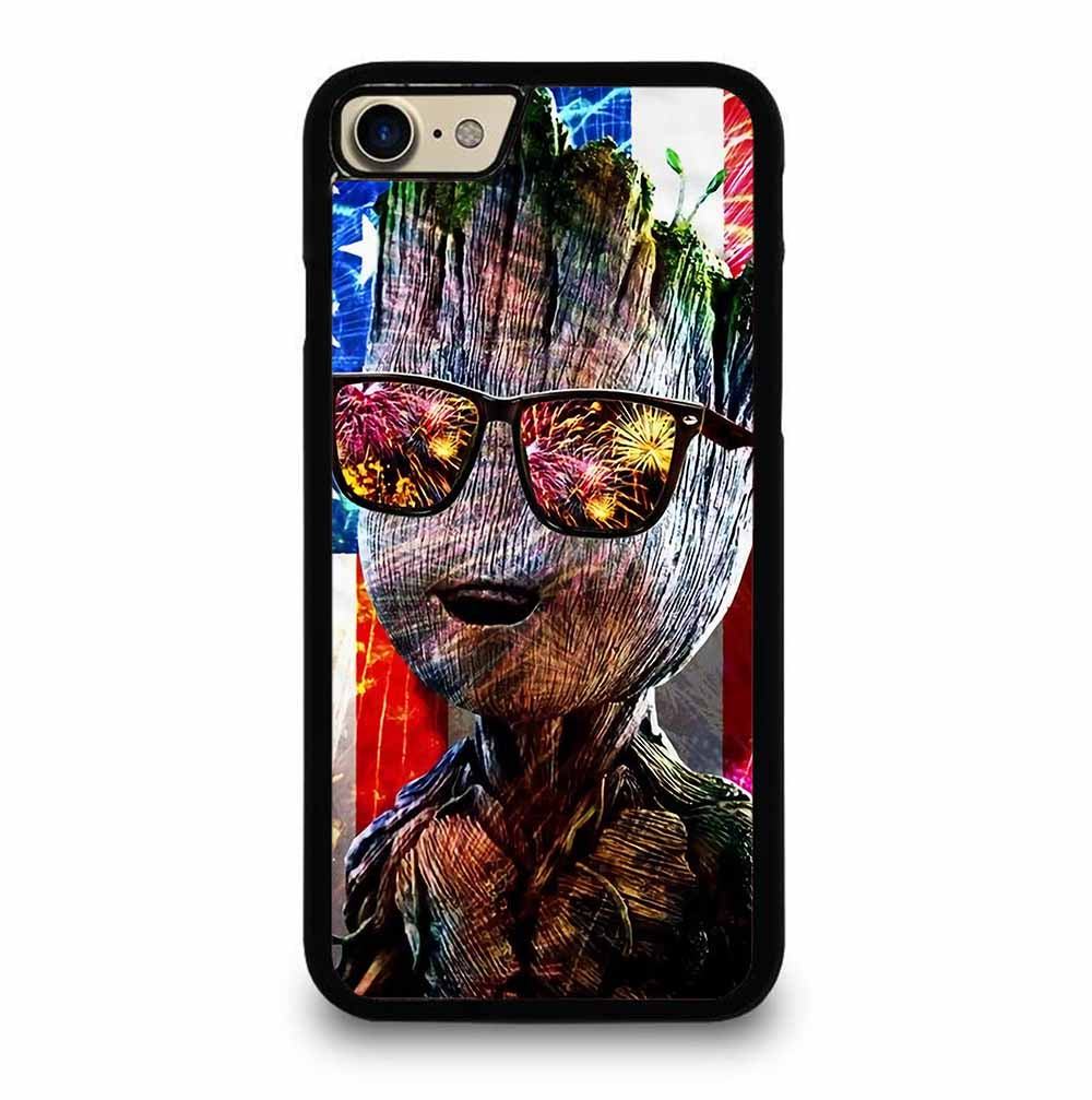 BABY GROOT AMERICAN FLAG iPhone 7 / 8 Case
