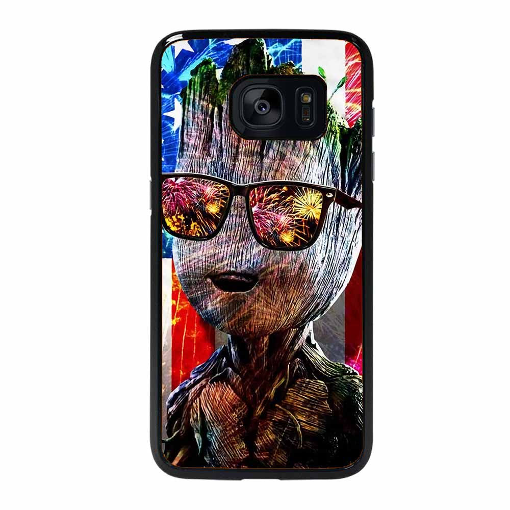BABY GROOT AMERICAN FLAG Samsung Galaxy 7 Edge Case