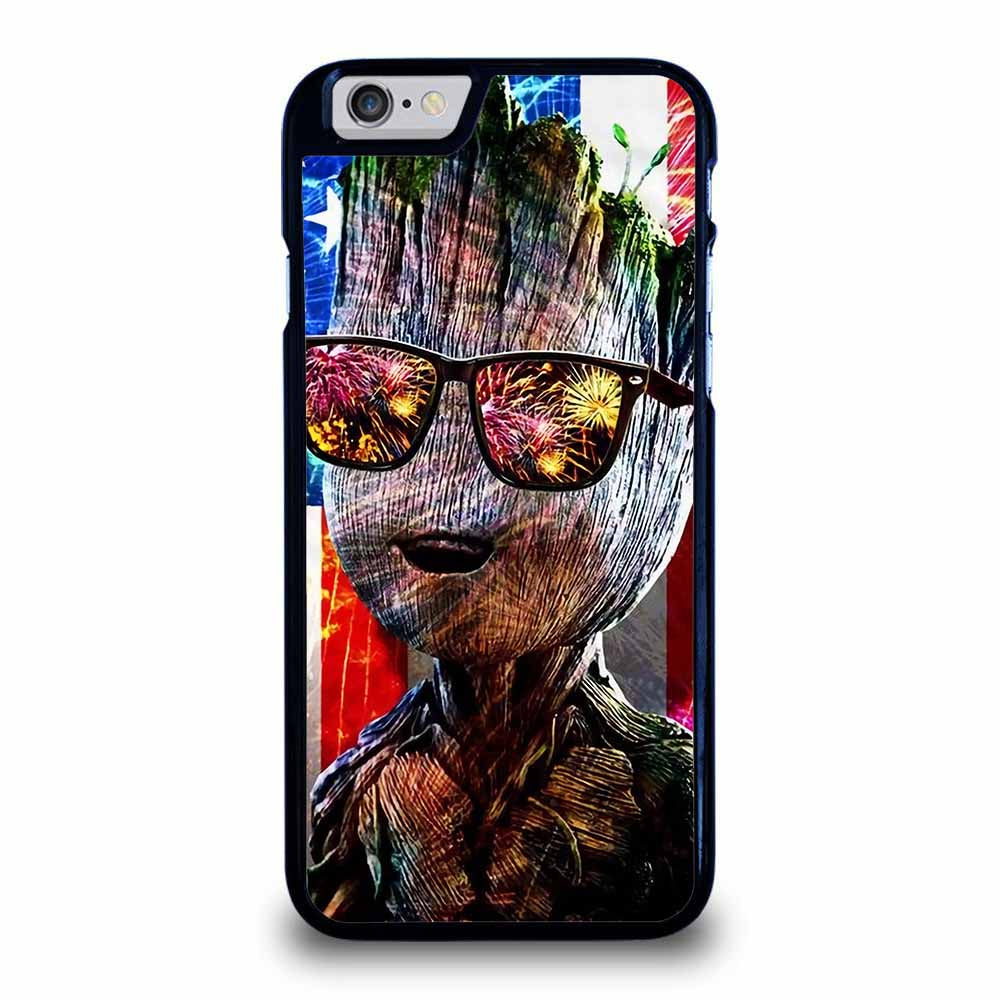 BABY GROOT AMERICAN FLAG iPhone 6 / 6S Case