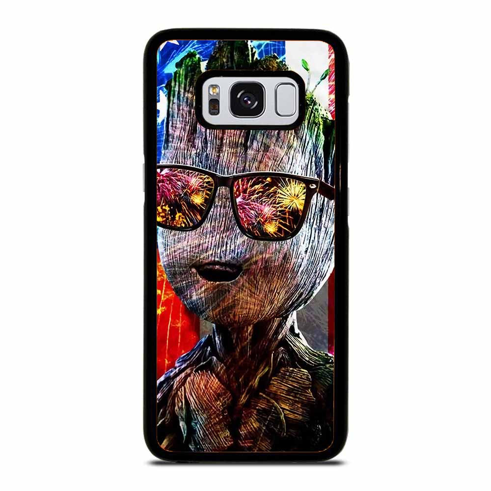 BABY GROOT AMERICAN FLAG Samsung Galaxy S8 Case