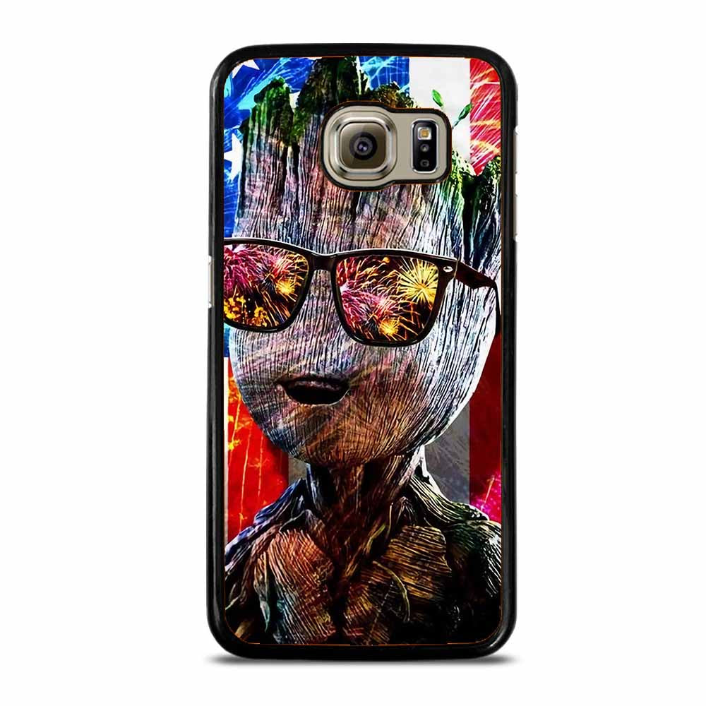 BABY GROOT AMERICAN FLAG Samsung Galaxy S6 Case