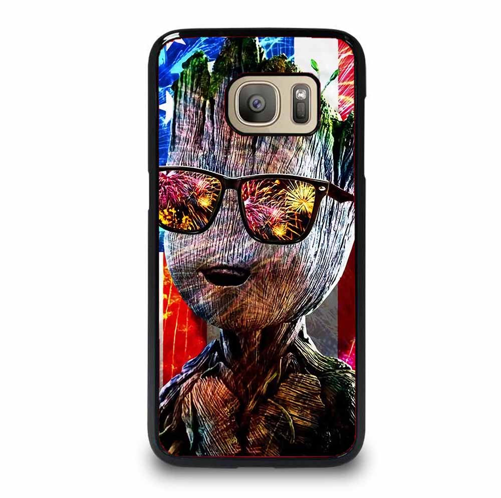 BABY GROOT AMERICAN FLAG Samsung Galaxy S7 Case