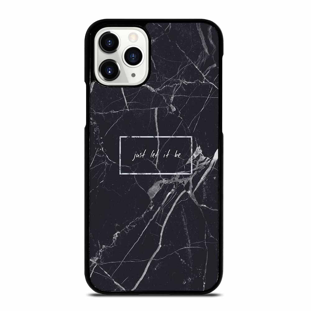 BLACK MARBLE QUOTE iPhone 11 Pro Case