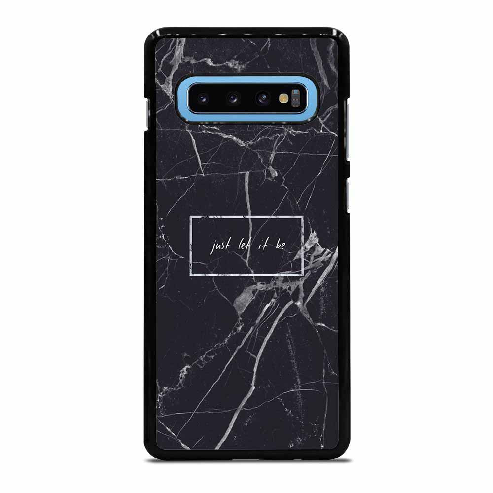 BLACK MARBLE QUOTE Samsung Galaxy S10 Plus case