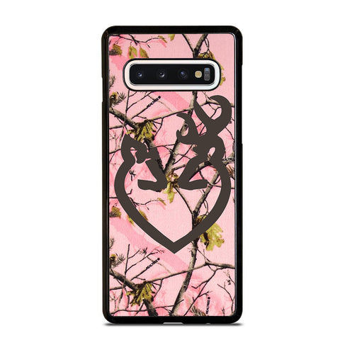 BROWNING BUCK AND DOE HEART PINK CAMO Samsung Galaxy S10 Case