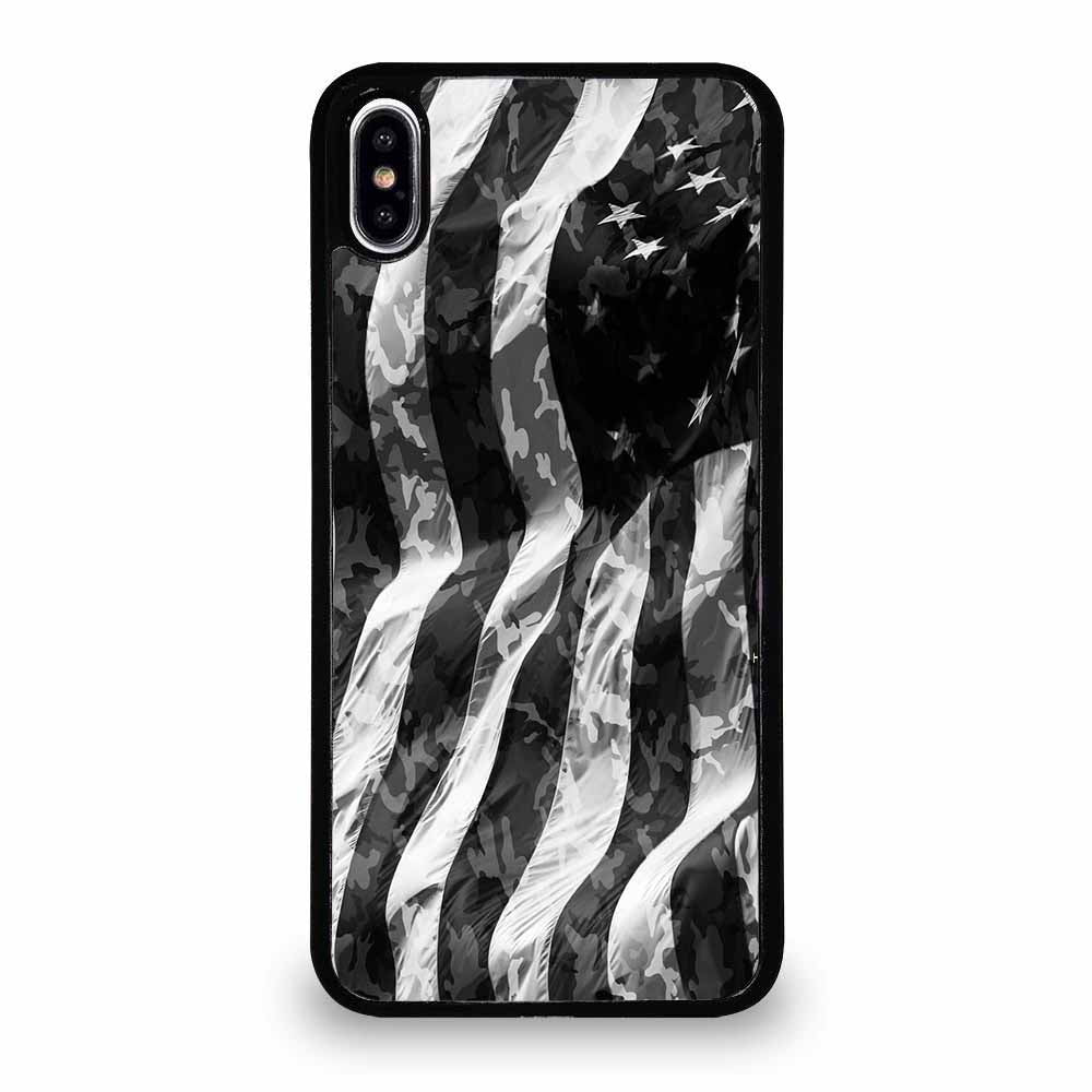 CAMO AMERICAN FLAG iPhone XS Max Case