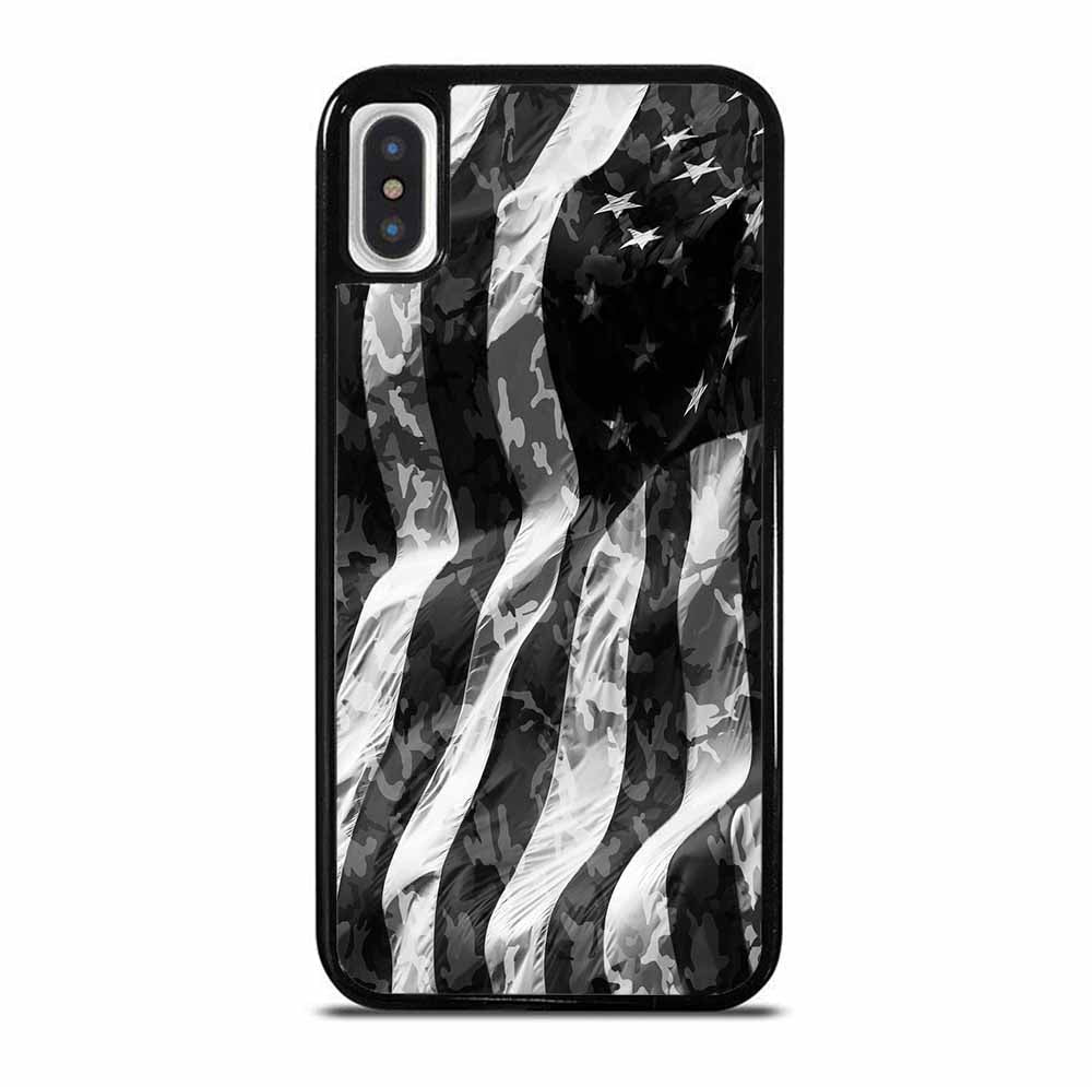 CAMO AMERICAN FLAG iPhone X / XS Case