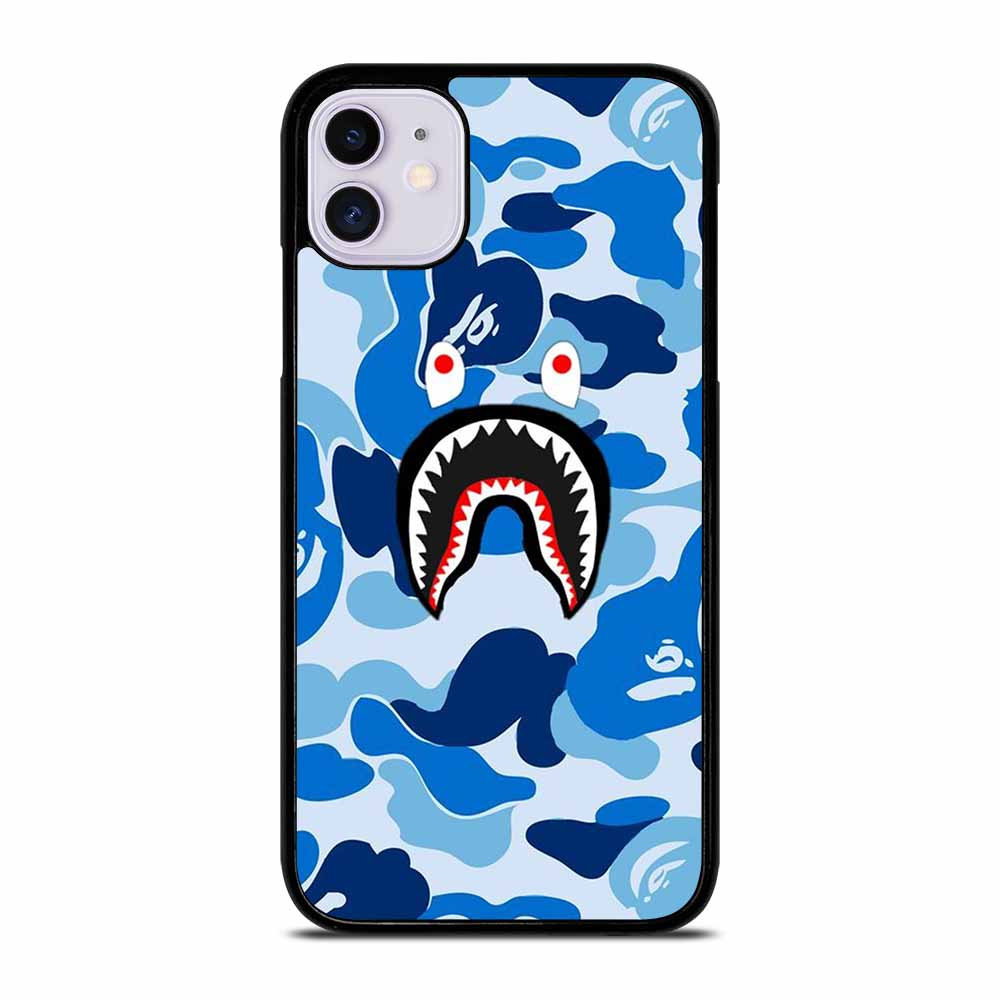 CAMO BAPE SHARK BLUE iPhone 11 Case