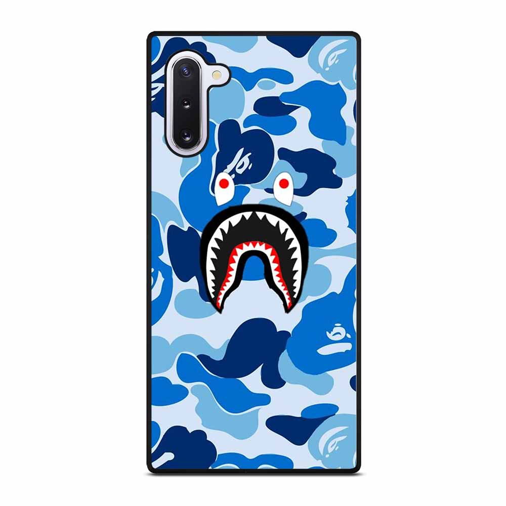 CAMO BAPE SHARK BLUE Samsung Galaxy Note 10 case