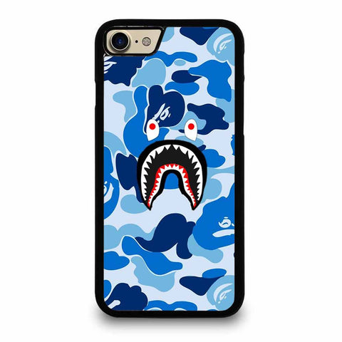 CAMO BAPE SHARK BLUE iPhone 7 / 8 case