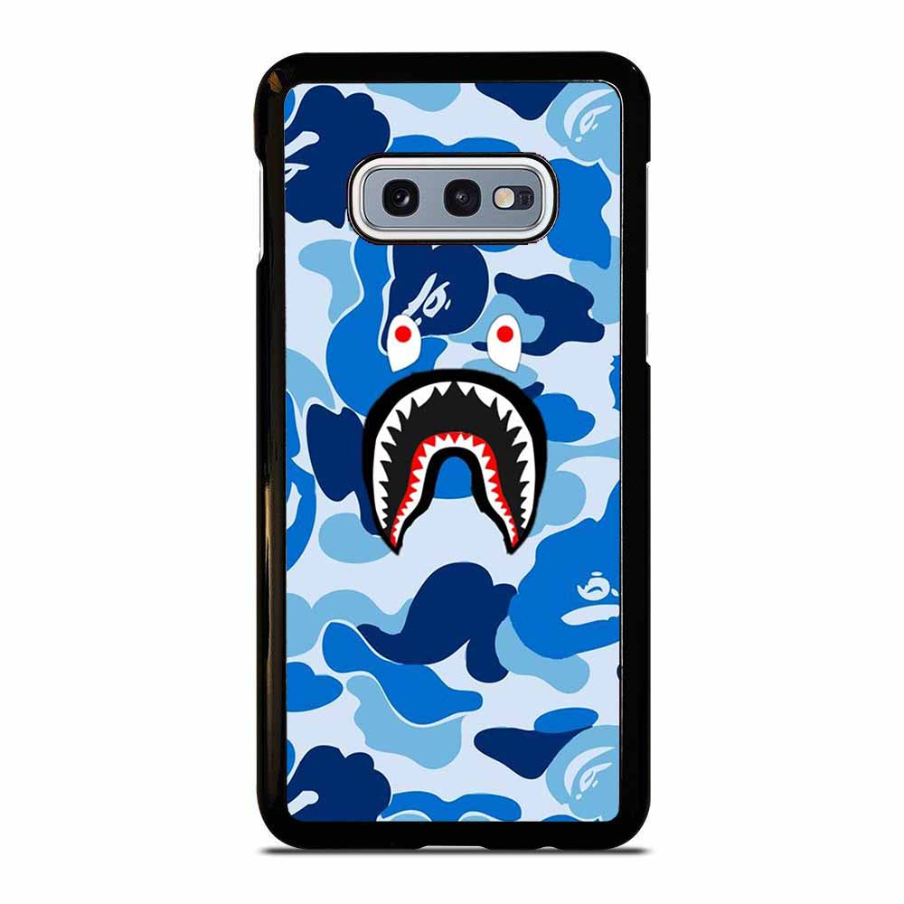CAMO BAPE SHARK BLUE Samsung Galaxy S10E case
