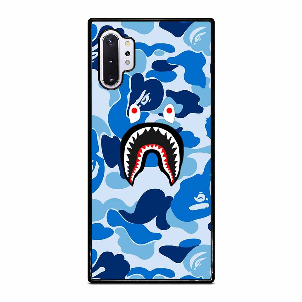 CAMO BAPE SHARK BLUE Samsung Galaxy Note 10 Plus case