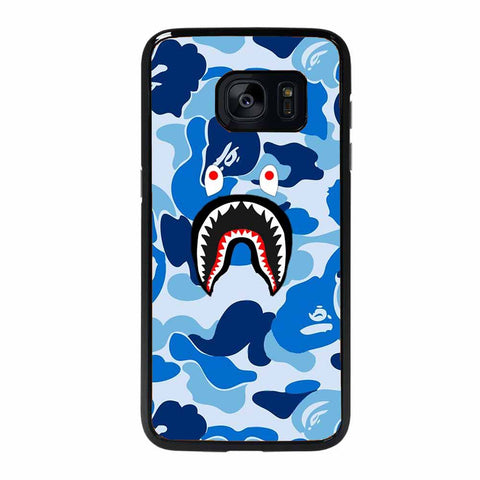 CAMO BAPE SHARK BLUE Samsung Galaxy S7 Edge case