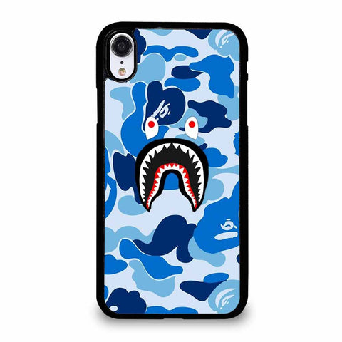 CAMO BAPE SHARK BLUE iPhone XR Case