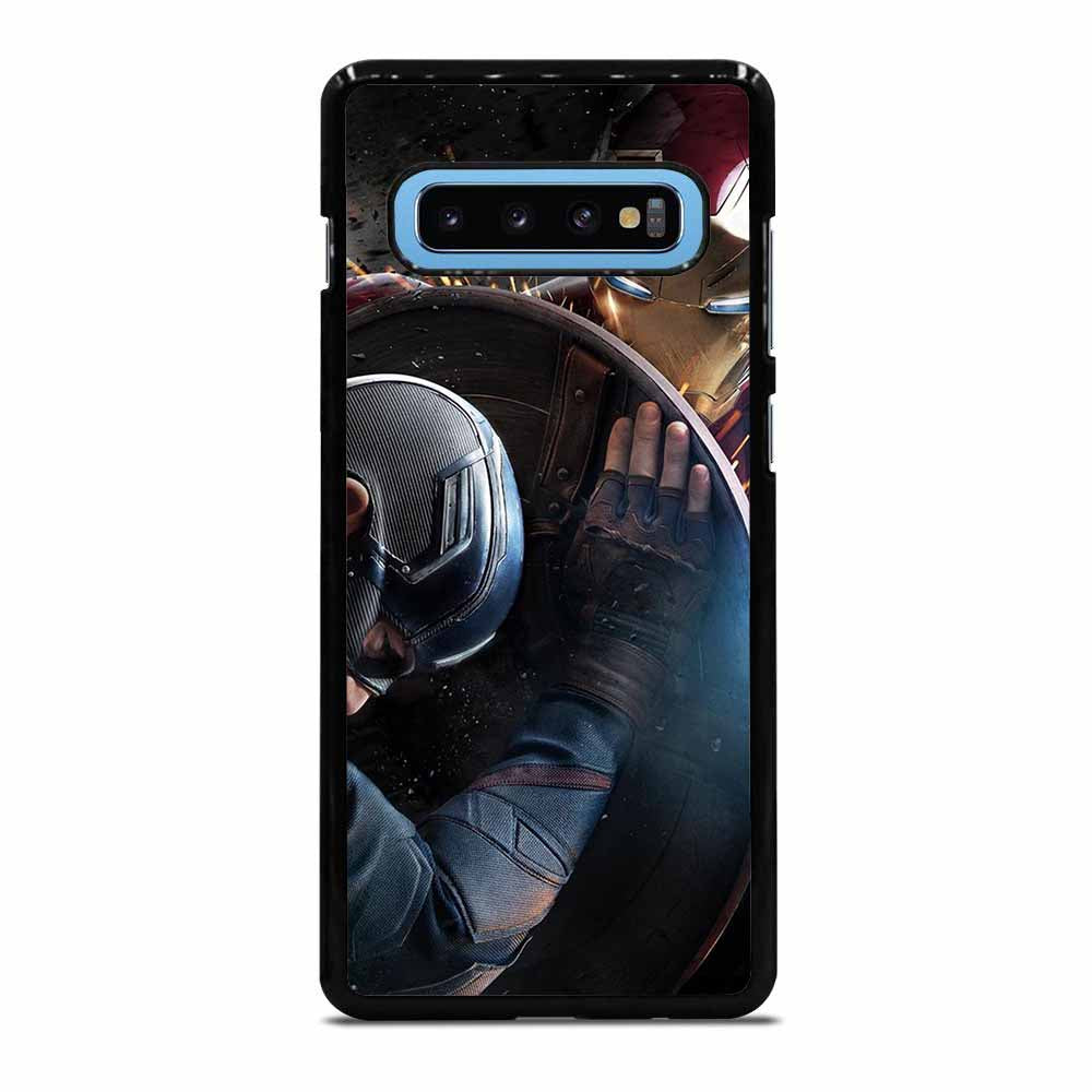CAPTAIN AMERICA VS IRON MAN Samsung Galaxy S10 Case