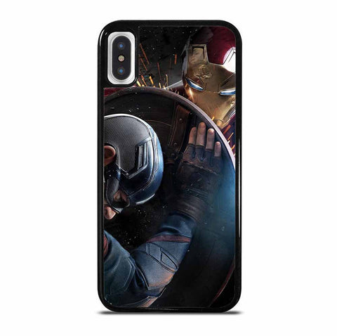 CAPTAIN AMERICA VS IRON MAN 6/6S 7 8 Plus X/XS Max XR 11 Pro Case
