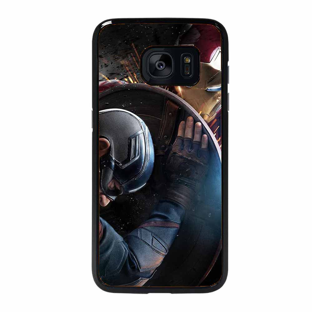 CAPTAIN AMERICA VS IRON MAN Samsung Galaxy 7 Edge Case