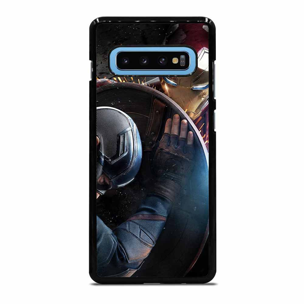 CAPTAIN AMERICA VS IRON MAN Samsung Galaxy S10 Plus Case