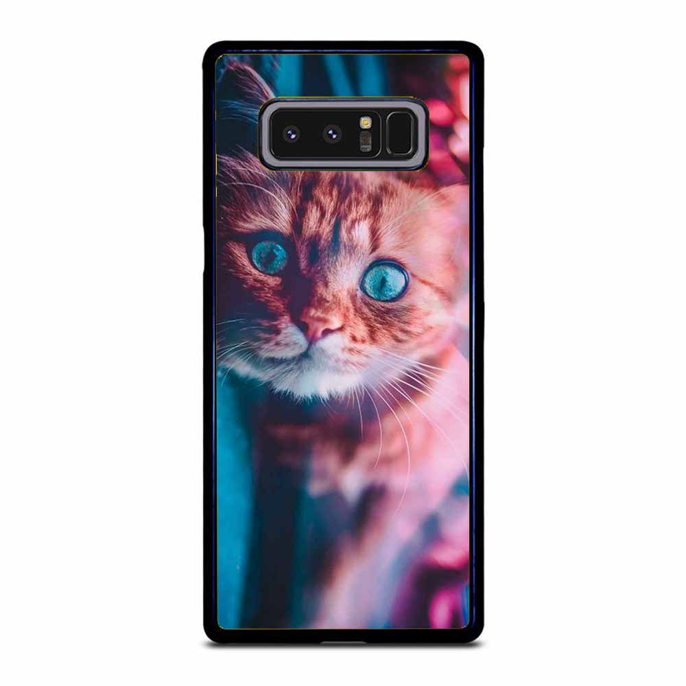 CAT AND THE CITY LIGHTS Samsung Galaxy Note 8 case