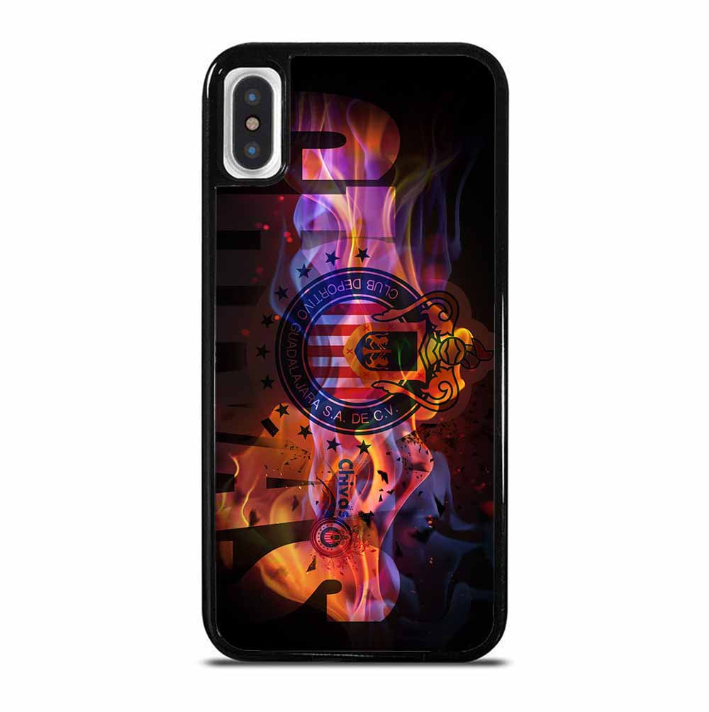 CHIVAS DE GUADALAJARA CLUB LOGO FIRE iPhone X / XS Case