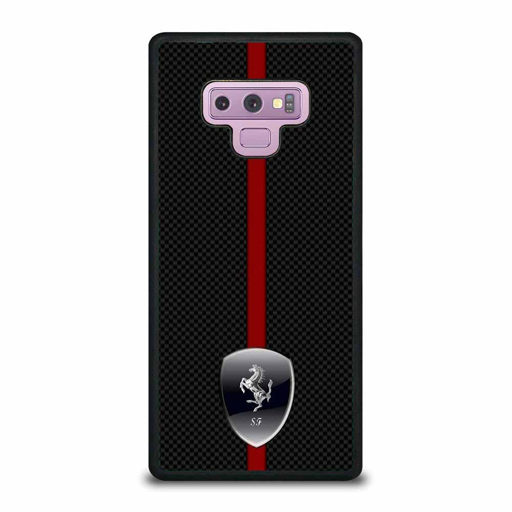 FERRARI LOGO CARBON Samsung Galaxy Note 9 case