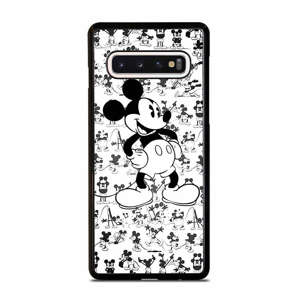 MICKY MOUSE BLACK AND WHITE Samsung Galaxy S10 Case