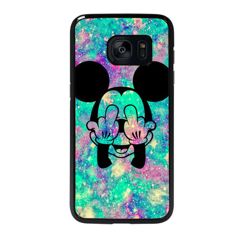 MIDDLE FINGER MICKY MOUSE Samsung Galaxy S7 Edge case