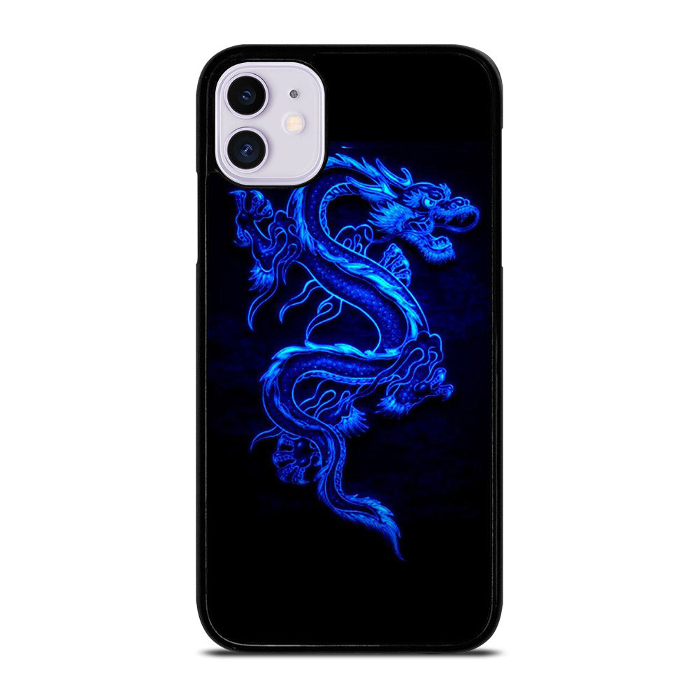 NEON DRAGONS BLUE iPhone 11 Case