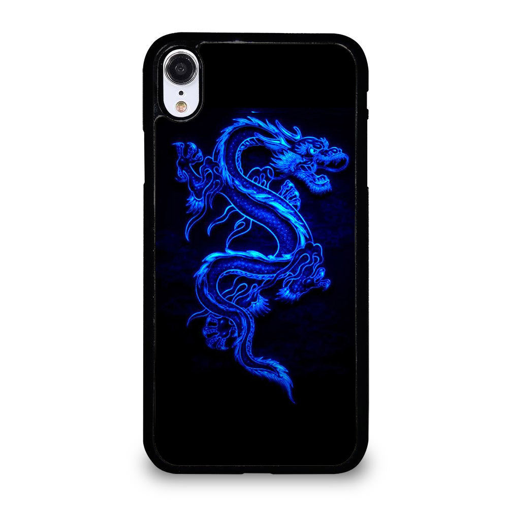 NEON DRAGONS BLUE iPhone XR Case