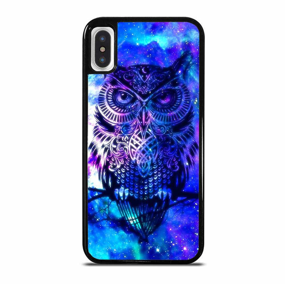 OWL BLUE GALAXY 6/6S 7 8 Plus X/XS Max XR 11 Pro Case