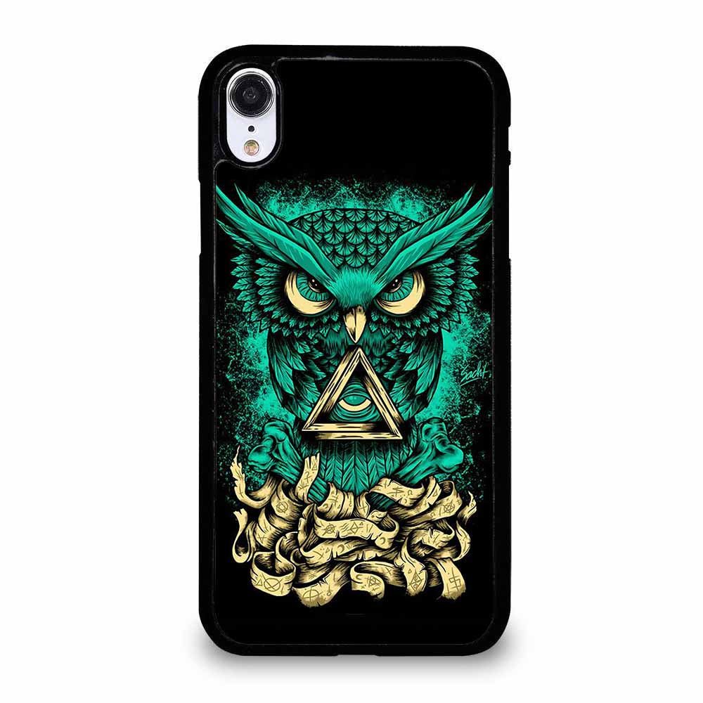 OWL GREEN 1 iPhone XR Case