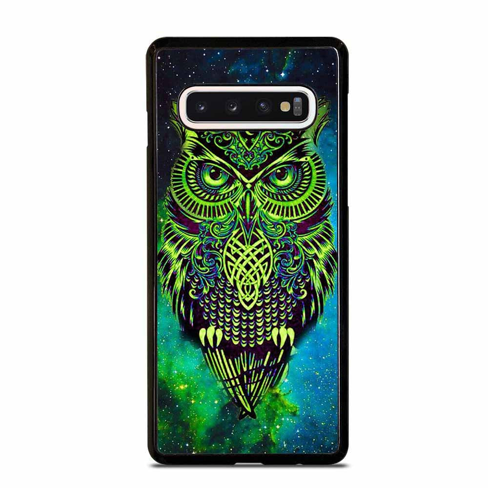 OWL GREEN Samsung Galaxy S6 S7 Edge S8 S9 S10 Plus 5G S10e Note 8 9 10 Case Samsung Galaxy S6 S7 Edge S8 S9 S10 Plus 5G S10e Note 8 9 10 Case