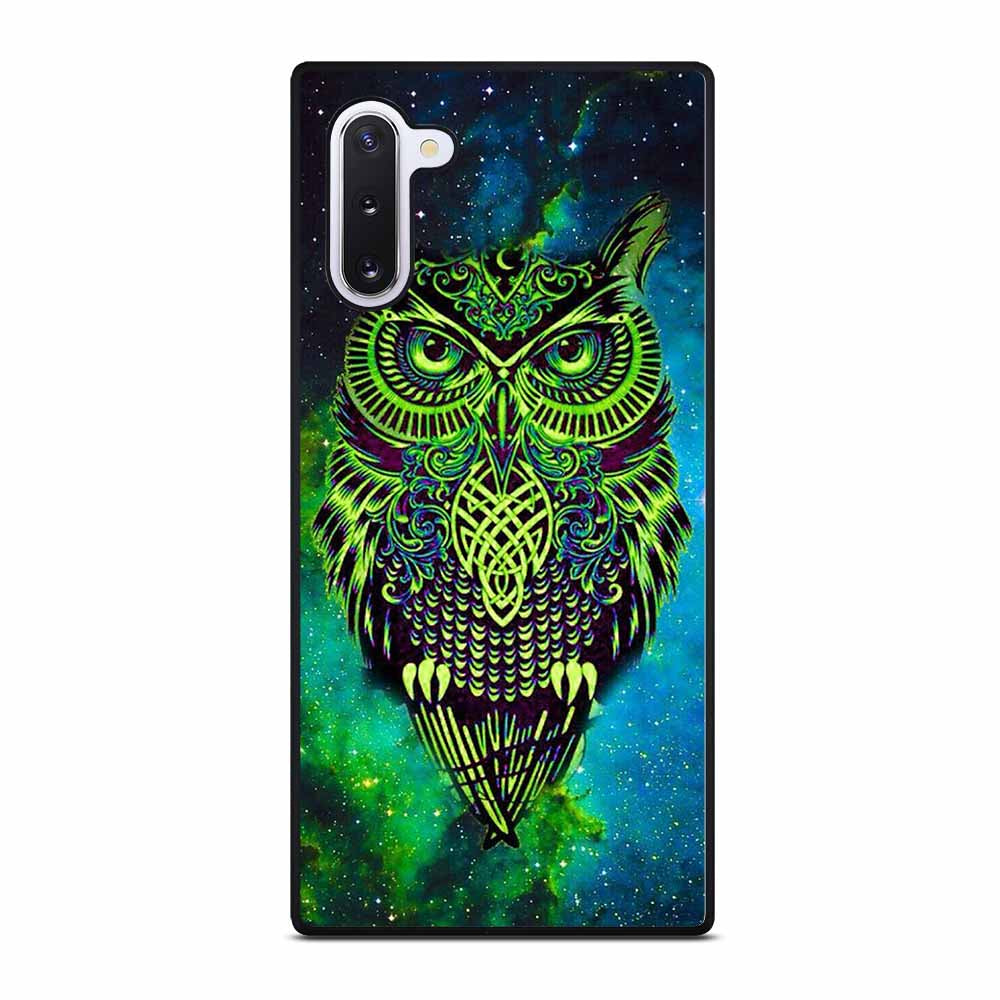 OWL GREEN Samsung Galaxy Note 10 Case