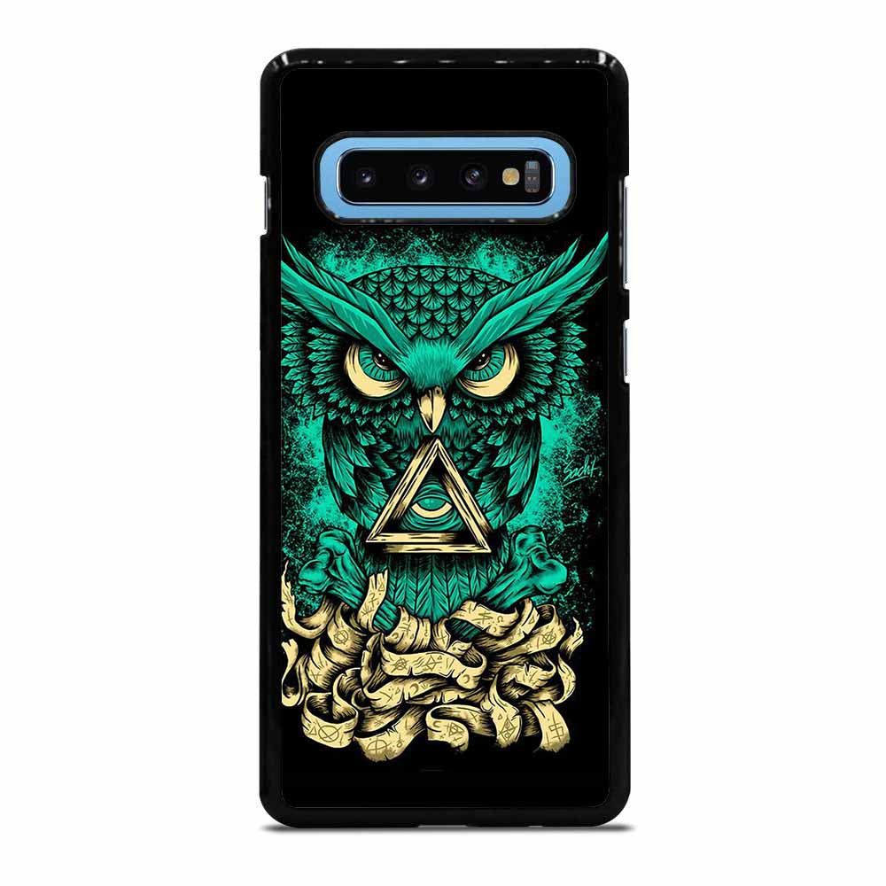 OWL GREEN 1 Samsung Galaxy S10 Plus Case