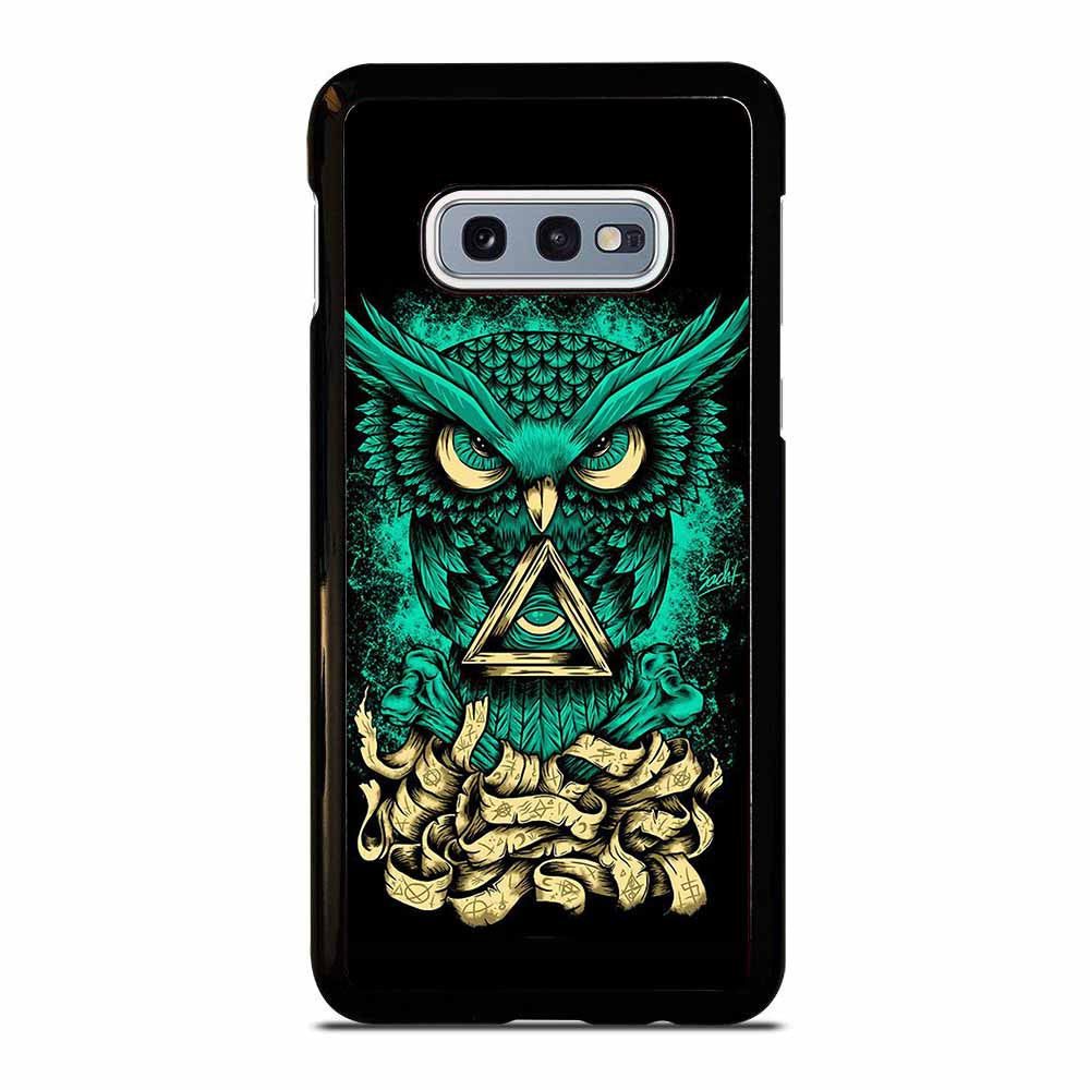 OWL GREEN 1 Samsung Galaxy S10E Case