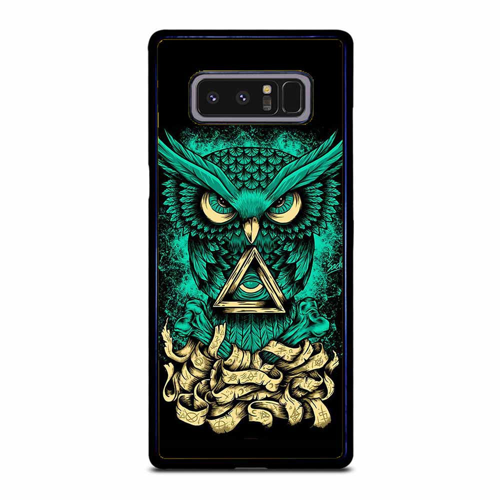 OWL GREEN 1 Samsung Galaxy Note 8 Case