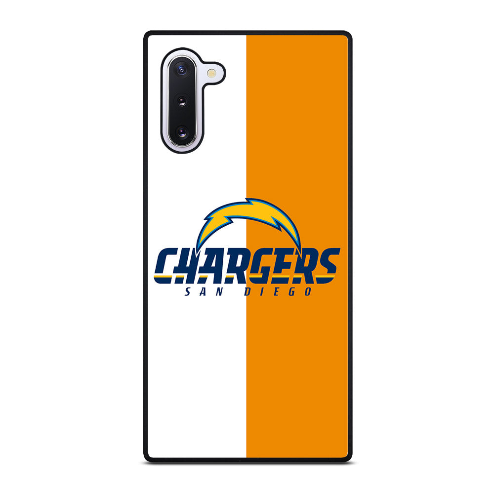 SAN DIEGO CHARGERS WHITE AND ORANGE Samsung Galaxy Note 10 case